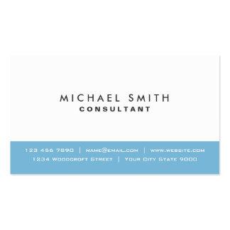 Azul moderno elegante llano y blanco profesionales plantilla de tarjeta de negocio
