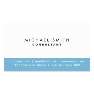 Azul moderno elegante llano y blanco profesionales tarjetas de visita
