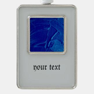 azul mojado de la textura del color marcos de adorno plateado