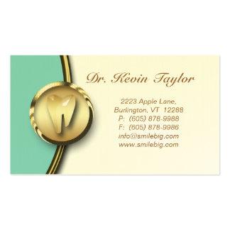 Azul molar dental 2 de la crema del oro de la tarj tarjetas de visita