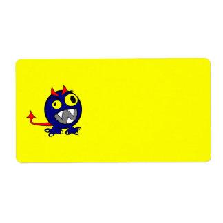 azul-monhi etiquetas de envío