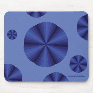Azul Mousepad de la ilusión óptica Alfombrillas De Ratones