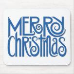 Azul Mousepad de las Felices Navidad Alfombrilla De Raton