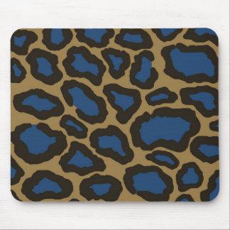 Azul Mousepad del guepardo