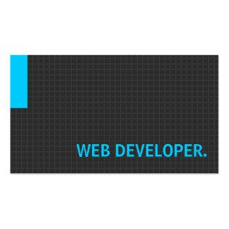 Azul múltiple del propósito del desarrollador de W Tarjetas De Visita