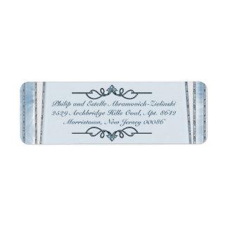Azul nacarado (etiquetas del remite) etiquetas de remite