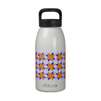 Azul naranja pálidos de la estrella del bloque del botella de agua