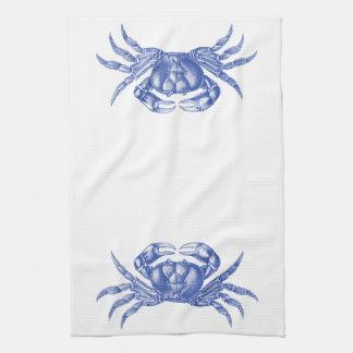 Azul náutico del estilo del artesano de la impresi toalla de cocina