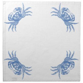 Azul náutico del estilo del artesano de la impresi servilleta