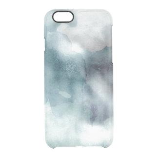 Azul náutico en colores pastel de la acuarela del funda clearly™ deflector para iPhone 6 de uncommon