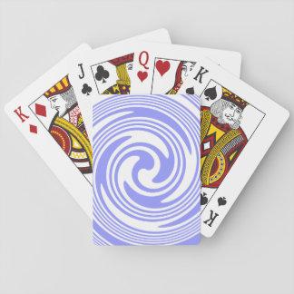 Azul náutico, remolinos del blanco barajas de cartas