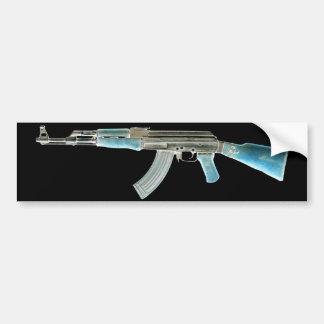 Azul negativo de AK-47 Pegatina Para Auto