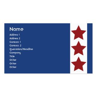 Azul - negocio tarjeta de visita