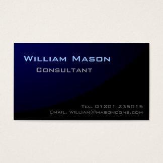 Azul negro curvado, tarjeta de visita profesional