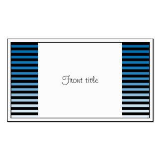 Azul, negro y añada las 3ro rayas del color tarjetas de visita