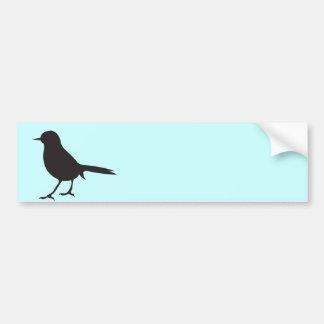 Azul negro y blanco del pájaro del gorrión de la s pegatina para auto