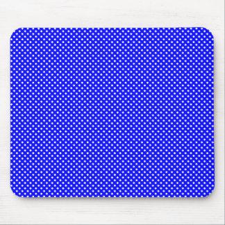 Azul neto del modelo con blanco tapetes de ratones