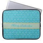 Azul nombrado inspirado costuras caja del ordenado funda portátil