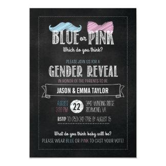 """¿Azul o rosado que usted piensan? El género revela Invitación 5"""" X 7"""""""