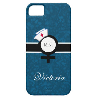 Azul oceánico+Muestra femenina+Casquillo nombre de iPhone 5 Case-Mate Carcasas