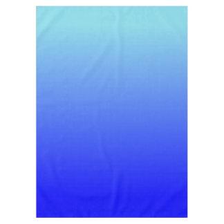 Azul Ombre de la aguamarina Manteles