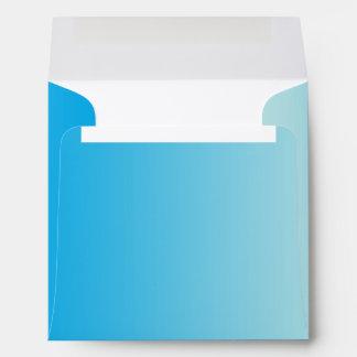 Azul Ombre de la aguamarina Sobre