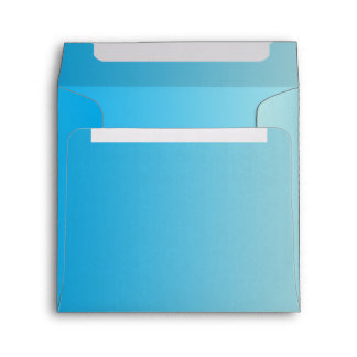 Azul Ombre de la aguamarina Sobres