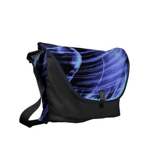 Azul, onda ligera púrpura - las bolsas de mensajer bolsa messenger