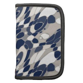 Azul ondulado y beige abstractos planificador