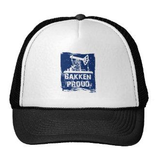 Azul ORGULLOSO del sombrero de Bakken Gorras