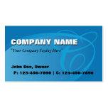 Azul oval de la tarjeta de visita
