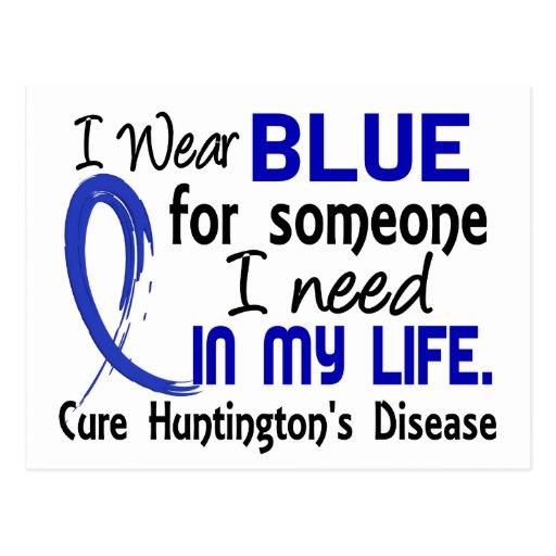 Azul para alguien necesito la enfermedad de Huntin Postal