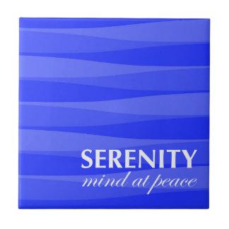 Azul para la serenidad azulejo cuadrado pequeño