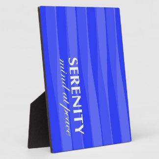 Azul para la serenidad placas con fotos