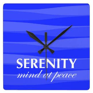 Azul para la serenidad relojes