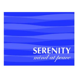 Azul para la serenidad tarjeta postal
