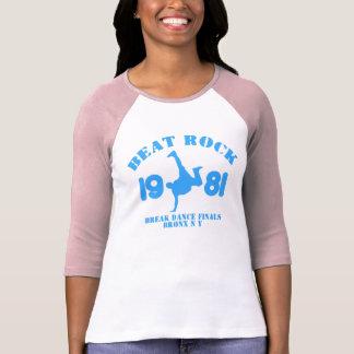 AZUL para mujer de la camiseta del béisbol de la Polera