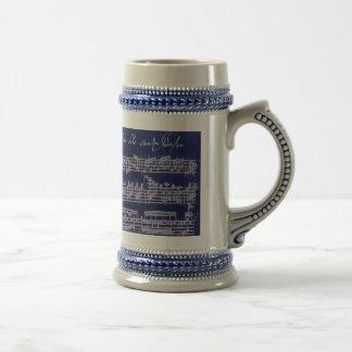 Azul Partita de Bach Tazas De Café