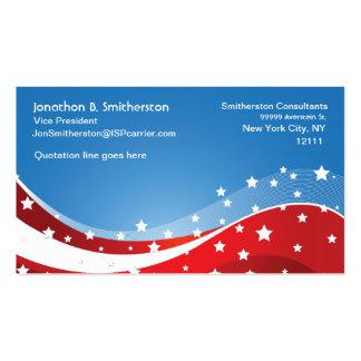 Azul patriótico tarjeta de visita