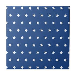 Azul patriótico y el blanco protagoniza la liberta azulejo cuadrado pequeño