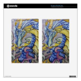 Azul Pegatinas Skins Para Kindle Fire