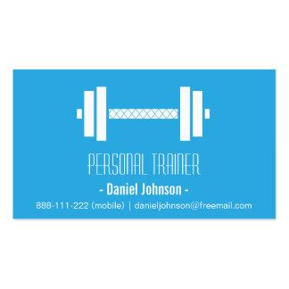 Azul personal del instructor de la aptitud moderna plantilla de tarjeta de visita