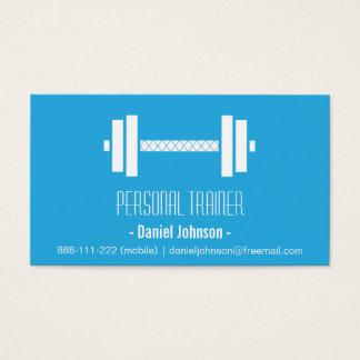 Azul personal del instructor de la aptitud moderna tarjetas de visita