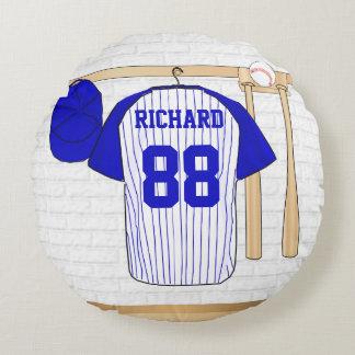 Azul personalizado del jersey de béisbol