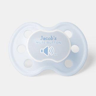 Azul personalizado divertido Binky del botón enmud Chupetes De Bebe