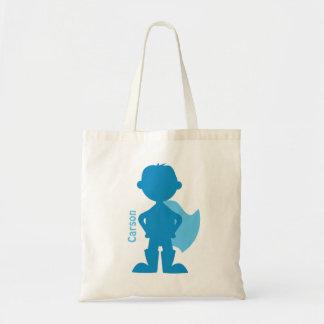 Azul personalizado silueta del muchacho del super