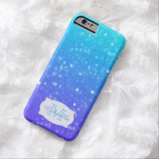 Azul personalizado y caja púrpura de la luz tenue funda barely there iPhone 6