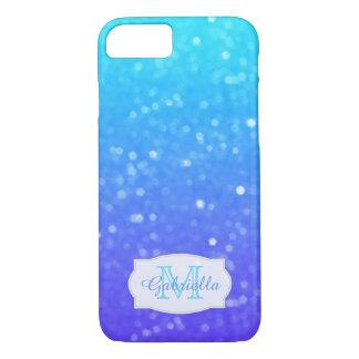 Azul personalizado y caja púrpura de la luz tenue funda iPhone 7