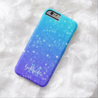 Azul personalizado y caja púrpura de la luz tenue funda para iPhone 6 barely there