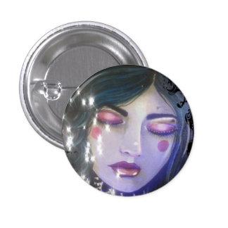 Azul Pin Redondo 2,5 Cm